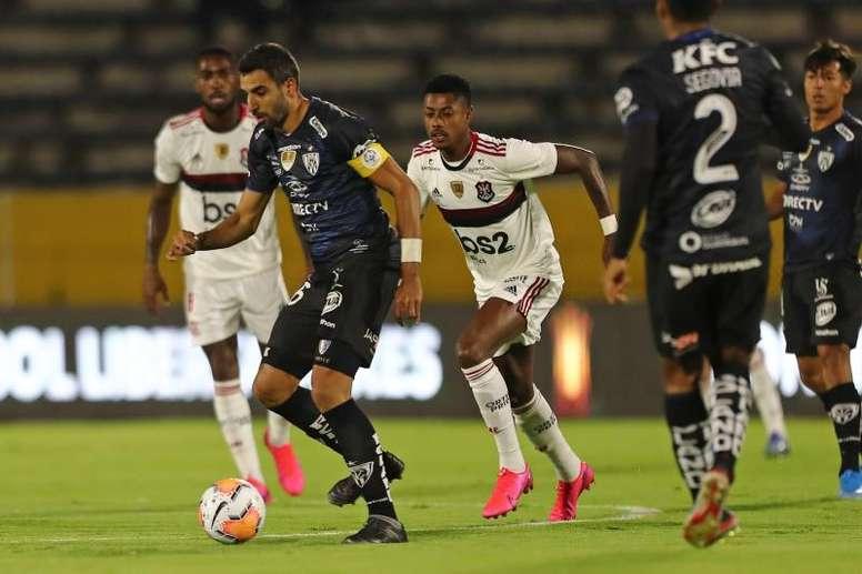 Nesta quinta-feira, o Independiente del Valle recebe o Flamengo. EFE