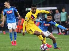 Insigne analizó el empate a uno contra el Barcelona. EFE/EPA