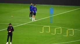 Simeone analizó el partido contra el Valencia. EFE