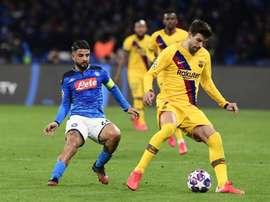 Piqué terminé l'entraînement et jouera le Clásico. EFE