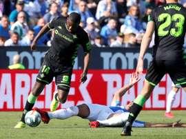 Carvalho sufre una sobrecarga y Rubi no quiere forzarle. EFE