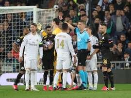 Real Madrid finalmente decidiu não recorrer. EFE/Juanjo Martín