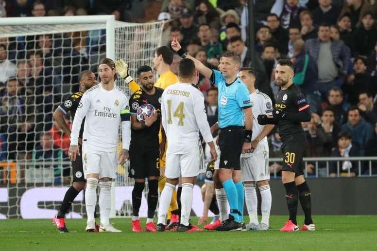 El Madrid no recurrirá la roja a Ramos. EFE