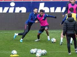 Simeone probó con Carrasco en su once inicial este jueves. EFE