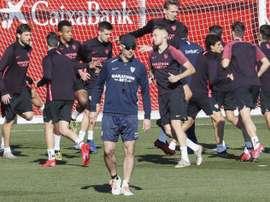 Vaclík y Fernando se recuperan a tiempo para el Cluj. EFE/José Manuel Vidal