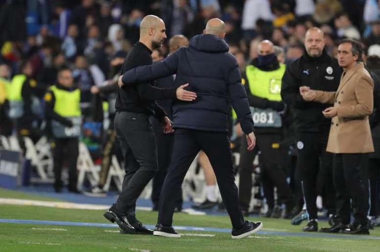 Guardiola encense Zidane. EFE