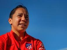 Charlyn Corral, contenta en el Atlético. EFE