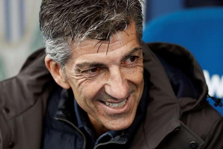 Imanol solo piensa en el partido ante el Valladolid. EFE/MARISCAL