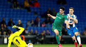 Oier le deja la pista libre a Andrés Prieto en el Espanyol. EFE