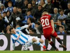 El Mirandés se enfrentará a la Real Sociedad en Copa. EFE