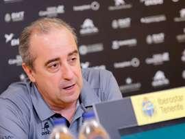 El entrenador del Iberostar Tenerife, Txus Vidorreta. EFE/Ramón de la Rocha/Archivo