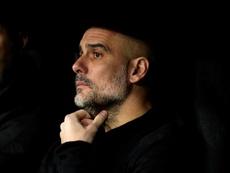 Guardiola restó importancia a su planteamiento en el Bernabéu. EFE/Juanjo Martín