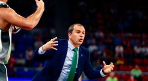 El entrenador del Joventut Badalona, Carles Duran. EFE/David Aguilar/Archivo
