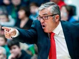 El entrenador del Montakit Fuenlabrada, Paco García. EFE/Quique García/Archivo