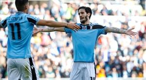Lazio chegou à liderança com vitória sobre o Bologna. EFE/EPA/GIUSEPPE LAMI