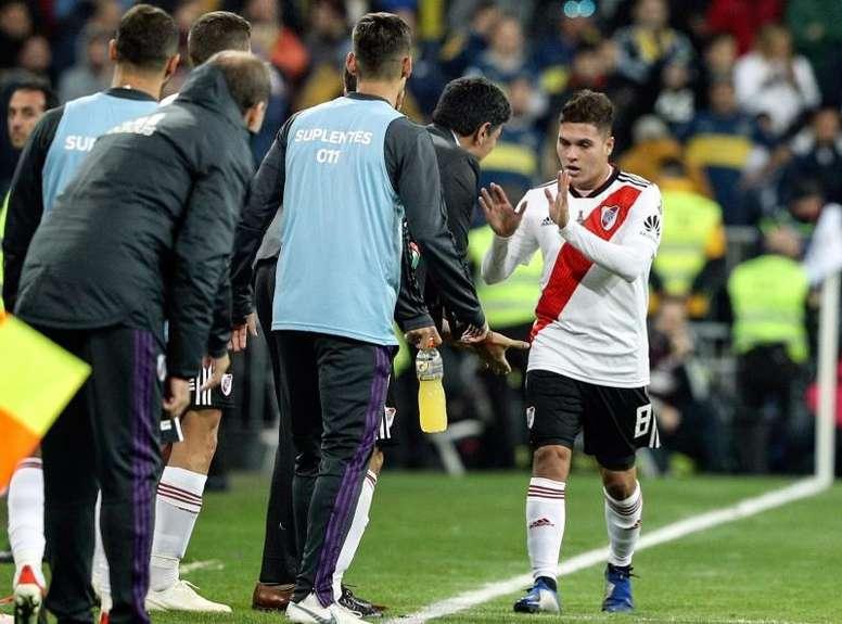 Quintero desmintió el enfado de Gallardo por acoger a Villa. EFE/Rodrigo Jiménez