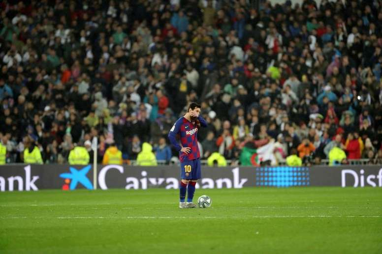 Lionel Messi, not his usual self. EFE