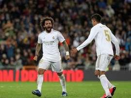 Marcelo elogiou o desempenho de Davies contra o Barça. EFE/Rodrigo Jiménez