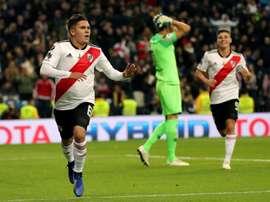 Quintero não sabe se deixaria o River Plate. EFE/JuanJo Martín