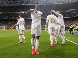 Vinicius está totalmente integrado ao Real Madrid. EFE/Juanjo Martín