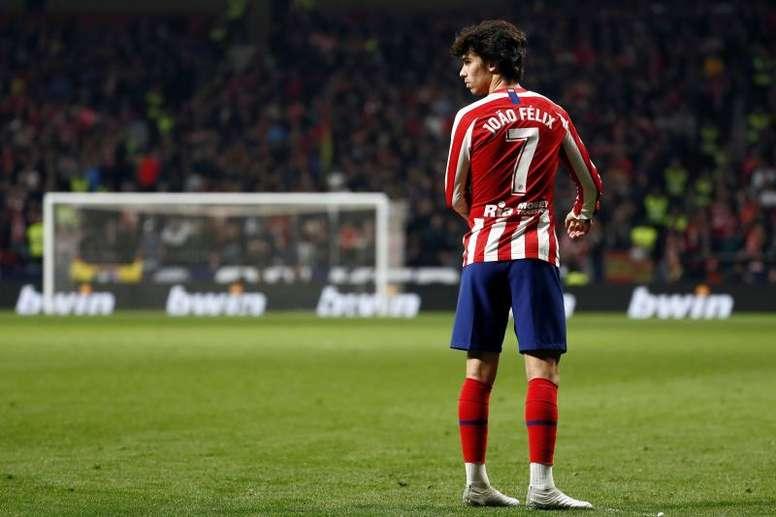 João Félix ainda não atingiu as expectativas no Atlético de Madrid. EFE/Mariscal/Archivo
