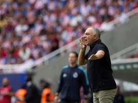 Vázquez pidió más actitud de cara al duelo ante Monterrey. EFE/Francisco Guasco/Archivo