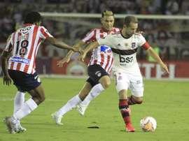 Prováveis escalações de Flamengo e Junior Barranquilla. EFE