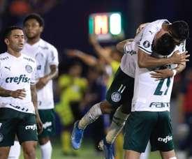 Prováveis escalações de Palmeiras e Guaraní-PAR. EFE