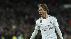 Luka Modric deve cumprir o contrato até o fim com o Real Madrid. EFE/ Ballesteros