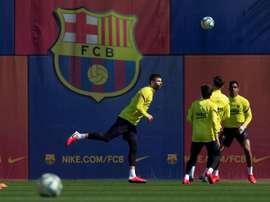 Jogadores do Barça podem reduzir ainda mais seus salários.EFE/ Enric Fontcuberta