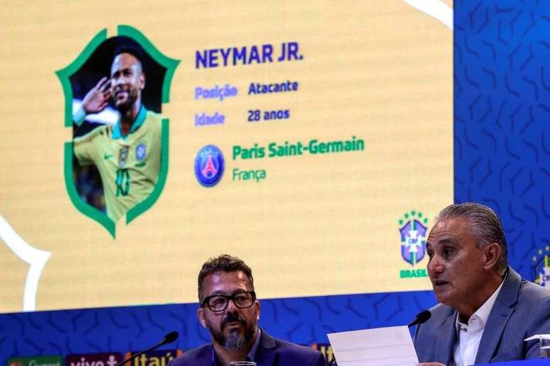 Tite convoca a seleção brasileira para as eliminatórias. EFE