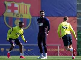 Sarabia diz adeus ao Barcelona. EFE/ Enric Fontcuberta