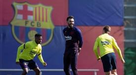 Eder Sarabia queda desvinculado del Barça. EFE