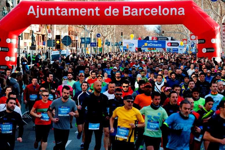 El maratón de Barcelona se pospone al 25 de octubre por el coronavirus. EFE/Alejandro García/Archivo
