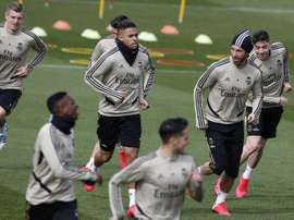 Nacho was back training for Real Madrid. EFE