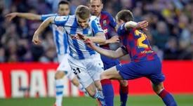 Odegaard estaría encantado de jugar la Champions con la Real el año próximo. EFE