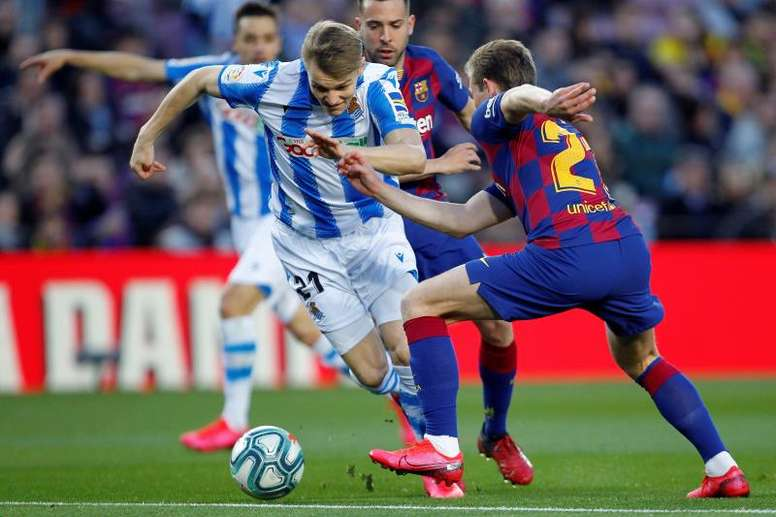 Martin Odegaard would be delighted to play in the CL for Real Sociedad next season. EFE
