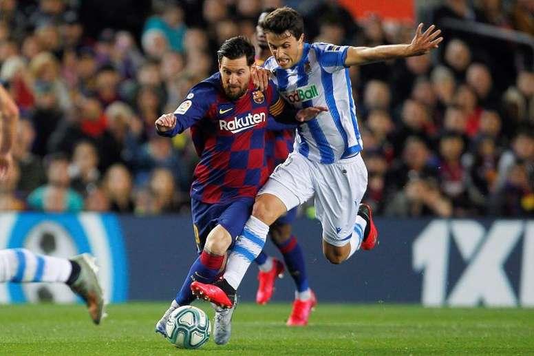 Barrenetxea cree que Messi sigue siendo igual de peligroso que siempre. EFE