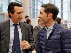 Emery e Marcelino, candidatos ao banco do Fenerbahçe.EFE