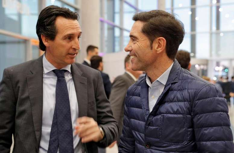 Emery e Marcelino, candidatos ao banco do Fenerbahçe.EFE