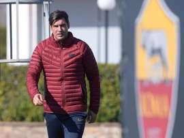 Roma, de Paulo Fonseca, ocupava a quinta colocação na Serie A quando foi interrompida. EFE/ Luciano