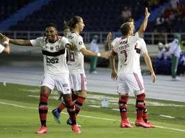 Prováveis escalações de Flamengo x Barcelona-EQU. EFE