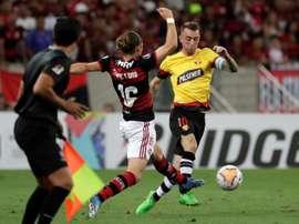 Flamengo se reencontram pela fase de grupos da Libertadores. EFE/Antonio Lacerda