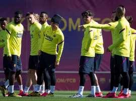 O jogador com a cláusula mais baixa do Barça. EFE/ Enric Fontcuberta