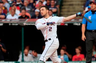 En la imagen, el jugador de los Astros de Houston Alex Bregman.EFE/Tannen Maury/Archivo