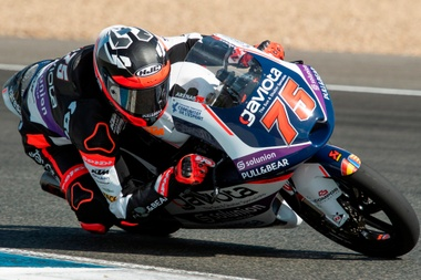 El piloto español de Moto3 Albert Arenas. EFE/ Raúl Caro/Archivo