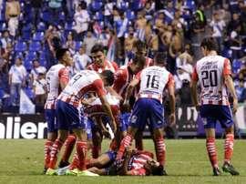 Quiroga cree que a Atlético San Luis le ha faltado suerte. EFE