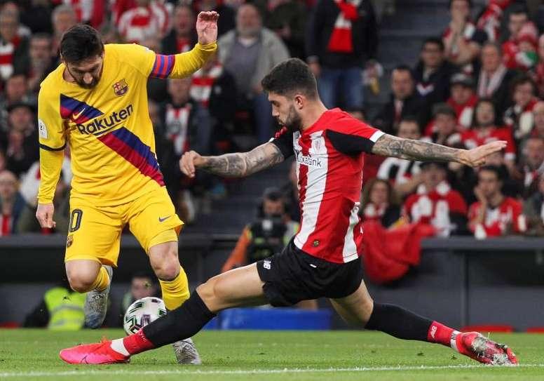 Les compos probables du match de Liga entre le FC Barcelone et l'Athletic Bilbao. EFE