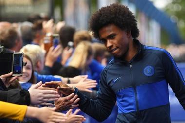 Willian se despede do Chelsea em carta aberta. EFE/Neil Hall