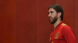 Sergio Ramos should have been training with Spain this Monday. EFE